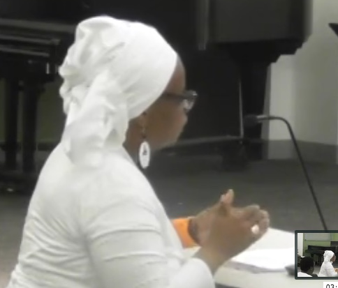 Mama Gail SRC testimony pic May 25, 2017
